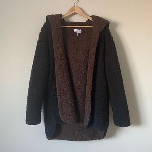 Urban Outfitters Sherpa Hooded Cardigan